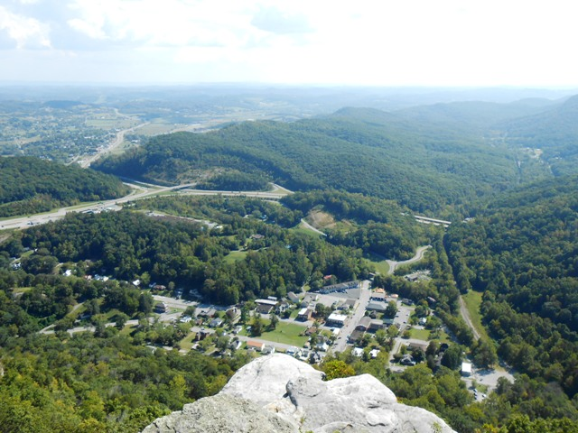 Looking down into Cumberland Gap.