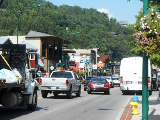 ... all the way into Gatlinburg.