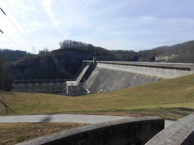 View of the backside of Norris Dam.