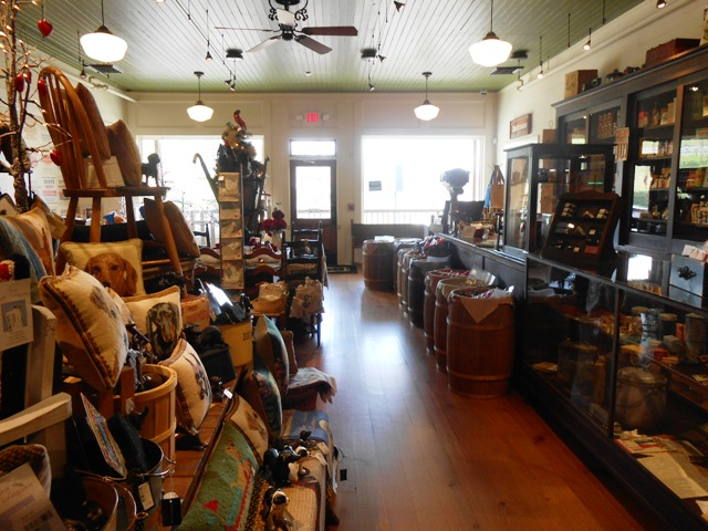 View inside the gift shop at the Visitor's Center.