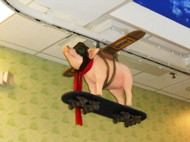 At Bush's Beans- pigs really do fly.