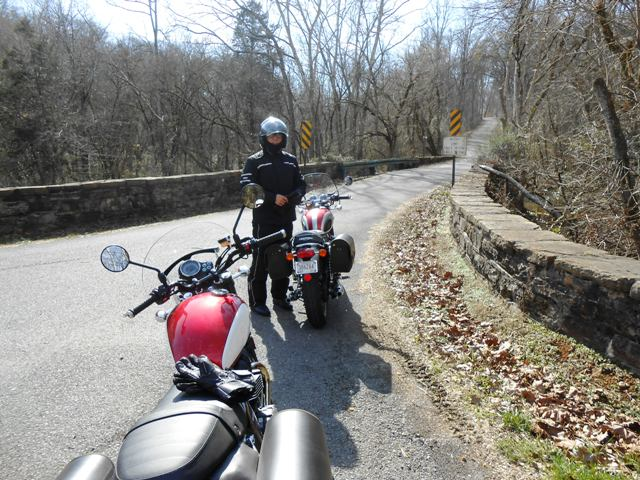 Jeff is enjoying the view off Indian Ridge Road.