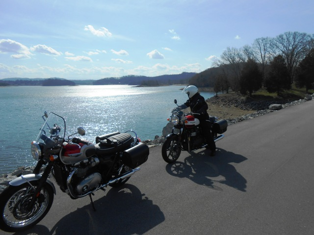 View of the water at Cherokee Dam.